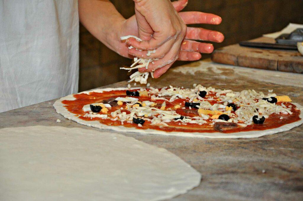pizza samenstelling